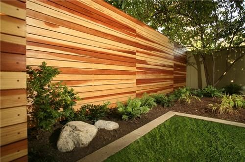 polished wood fence wall