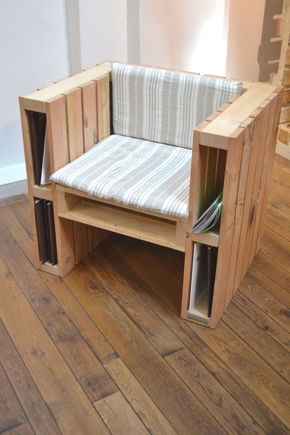 pallet reading chair