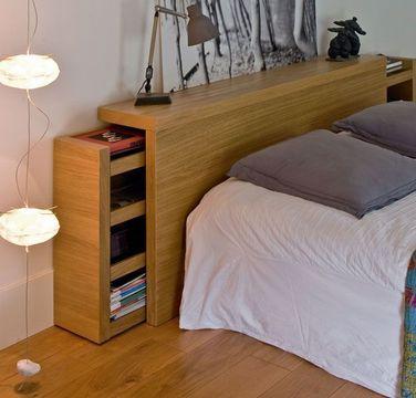 hidden bedroom headboard storage