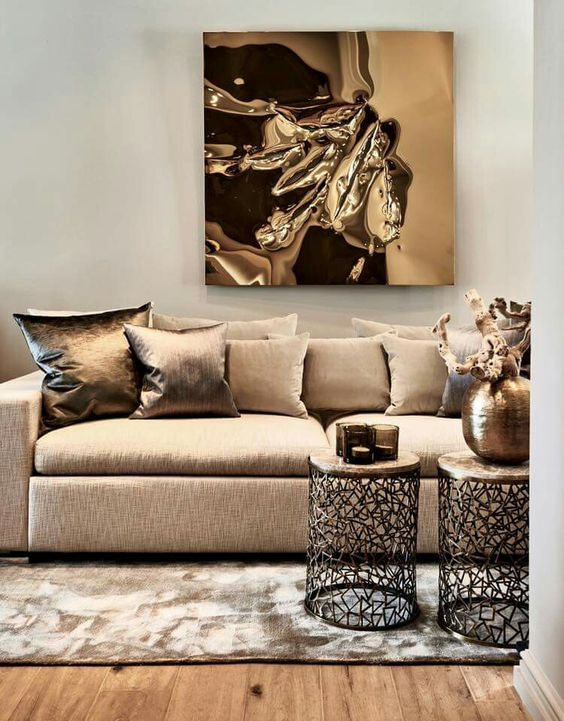 bronze living room