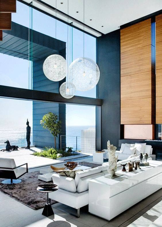 grand living room glass wall