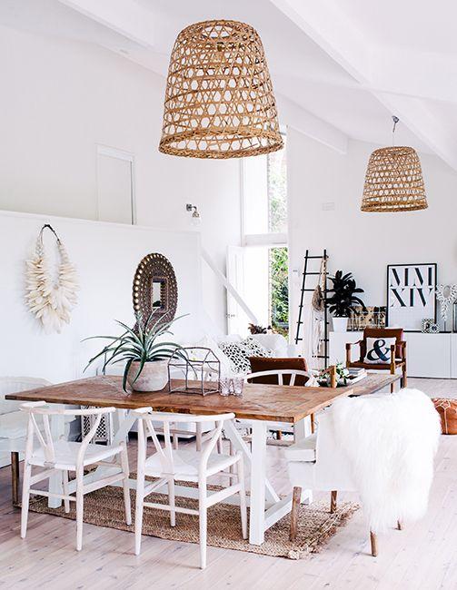 Modern boho interior design