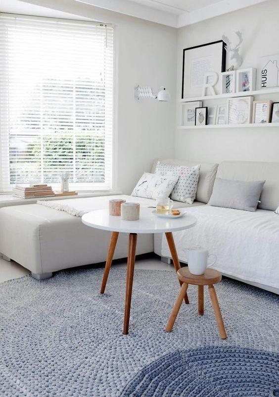 small white living room