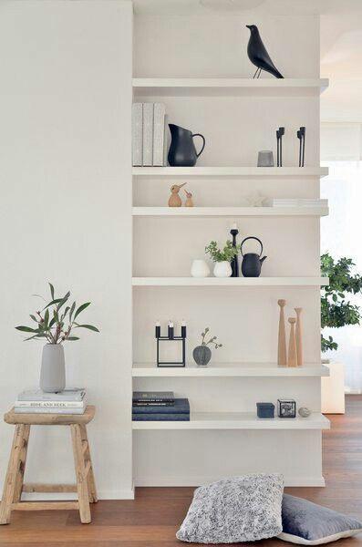 minimalist floating shelves