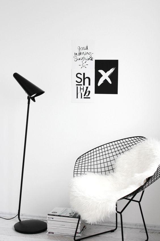 black wire mesh chair