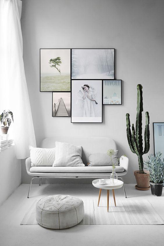 white mid century modern room