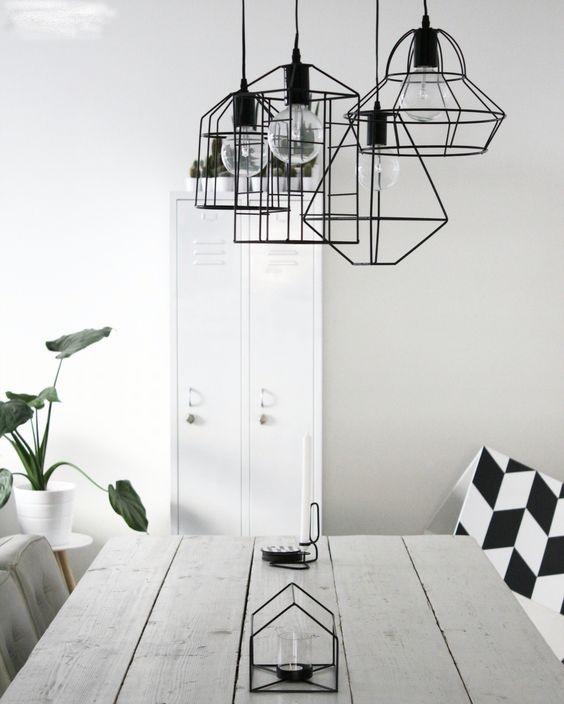 Scandinavian geometric pendant lights