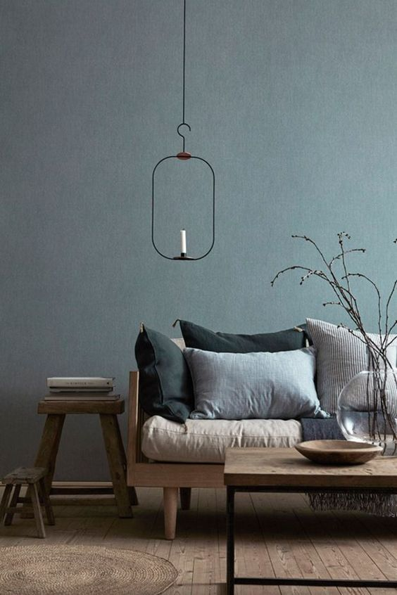 comfortable modern rustic living room