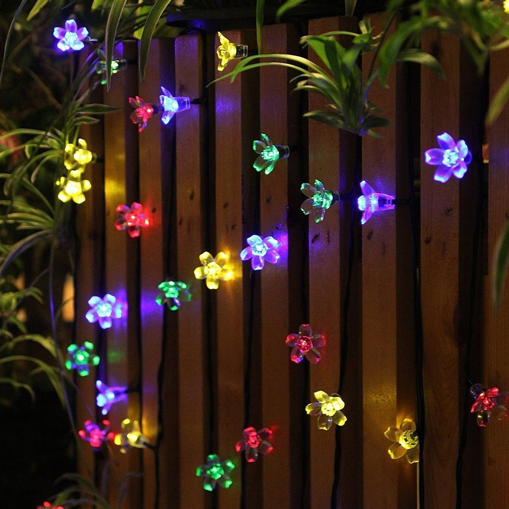 colourful flower outdoor lights