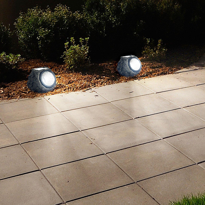 garden rock lights