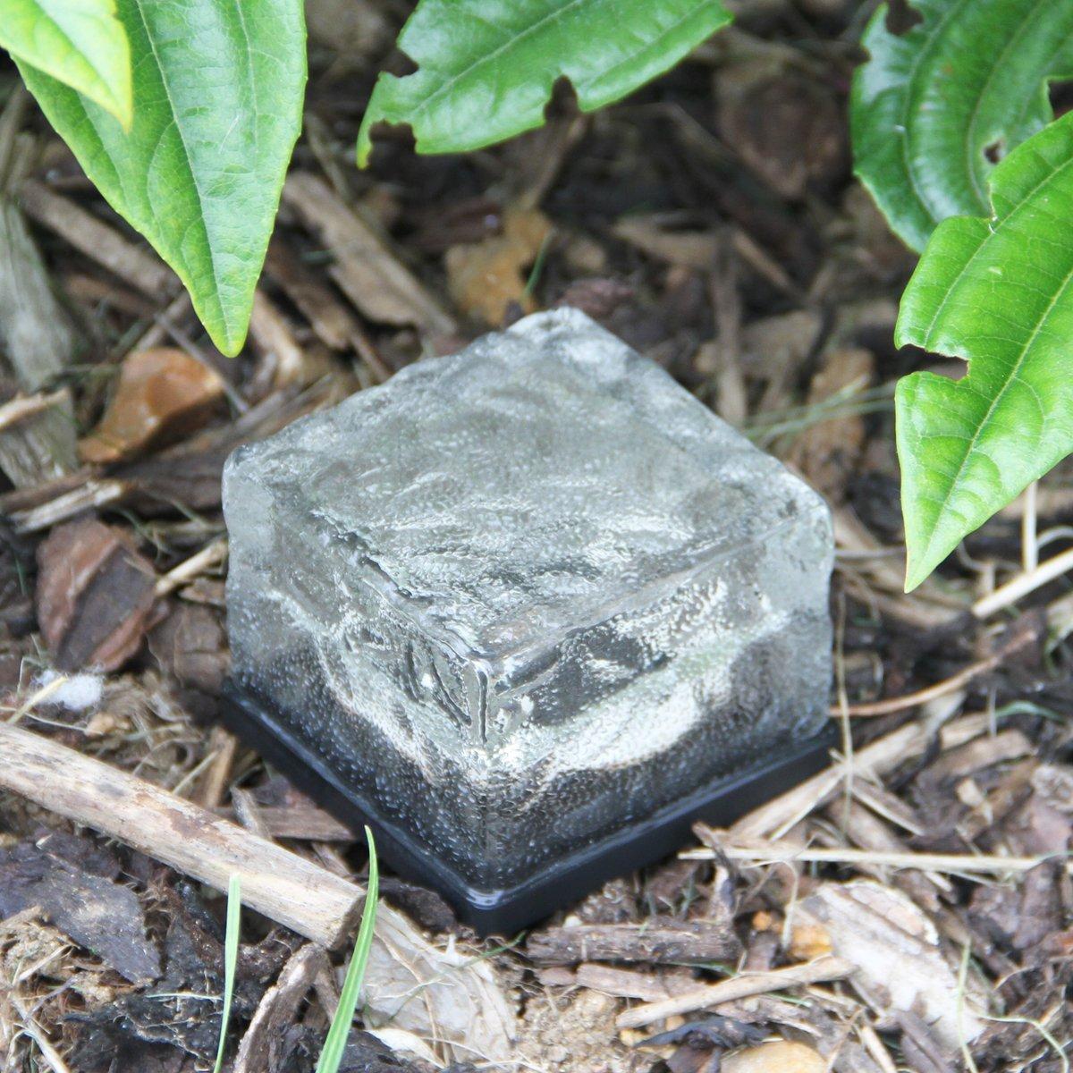 solar ice rocks outdoor lights