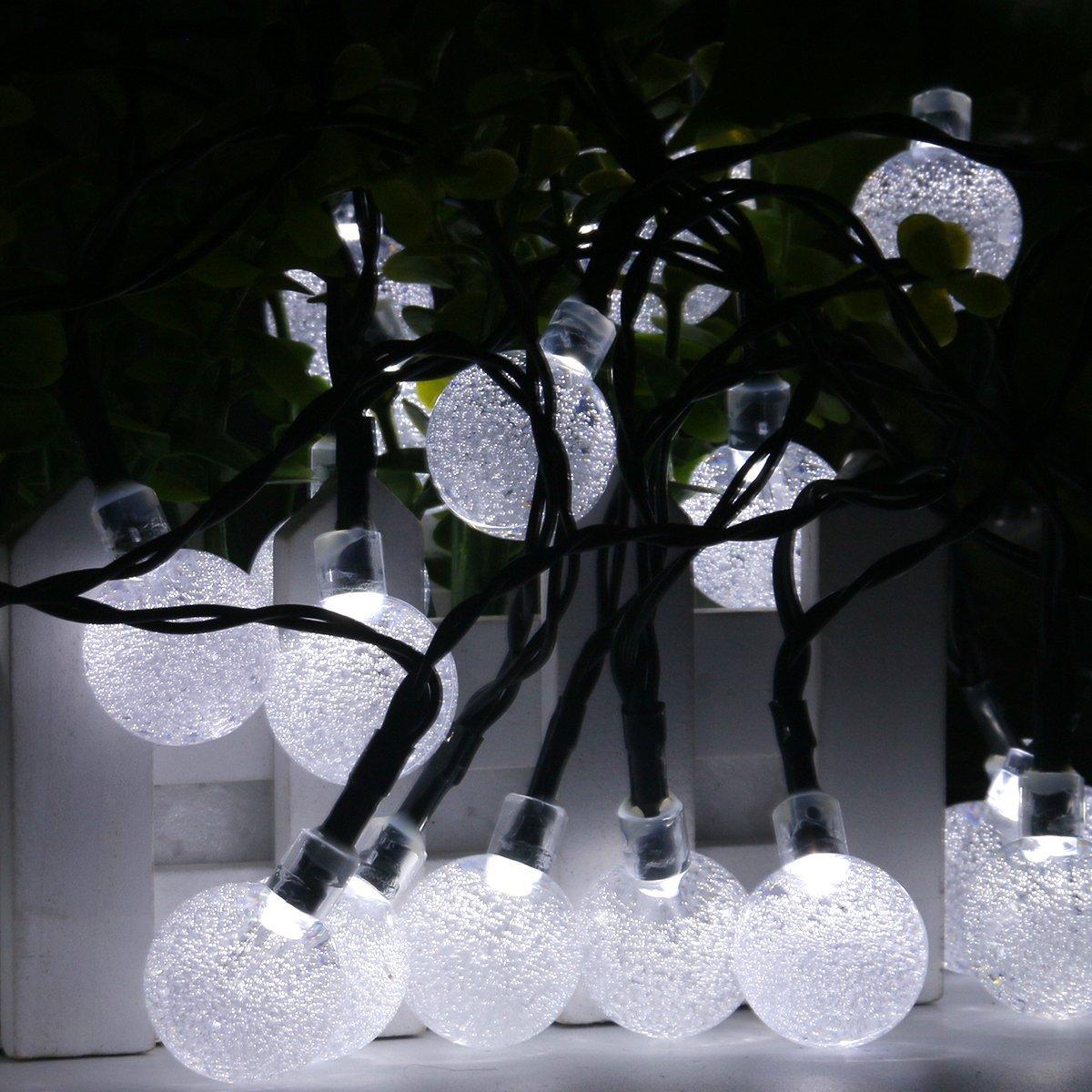 white garden string lights