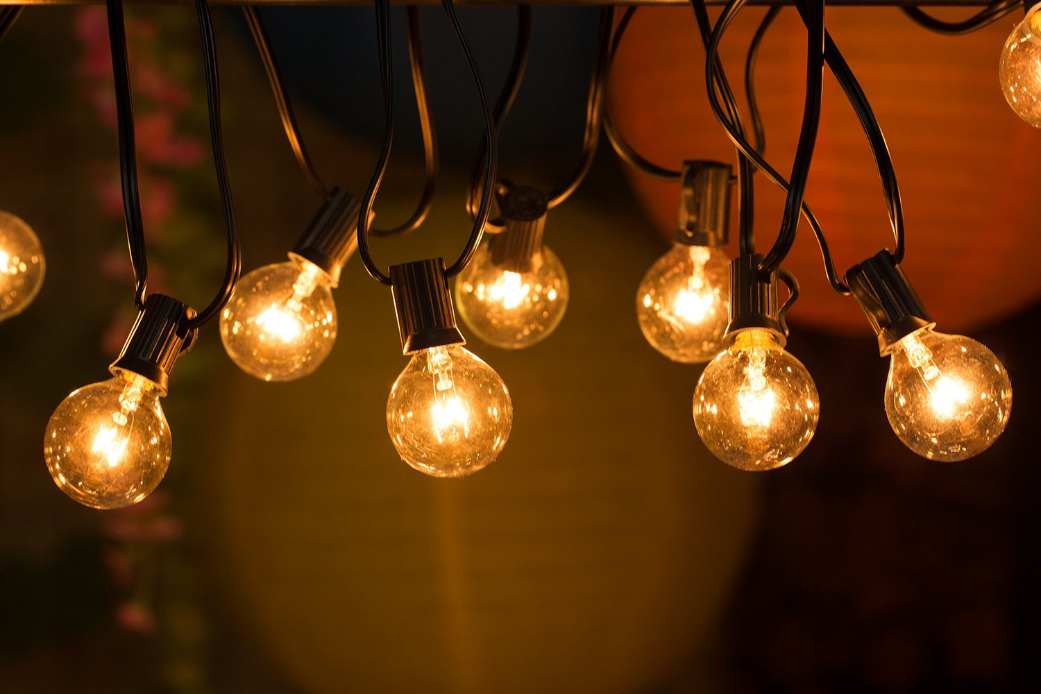 clear globe outdoor string lights