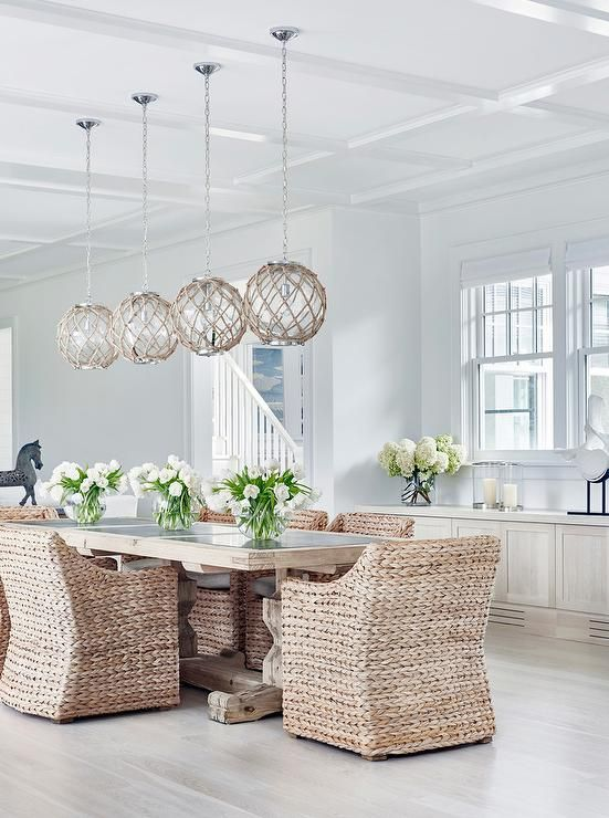 chic cottage style dining room