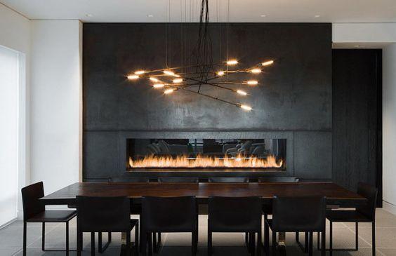 sleek modern dining room