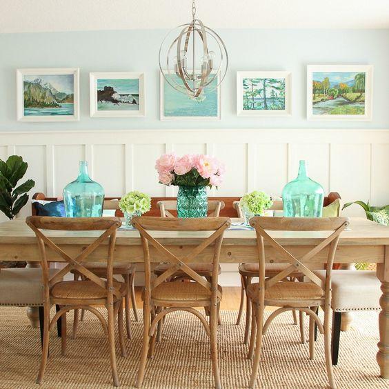 modern lakeshore dining room