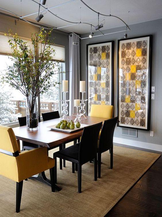 modern casual dining room