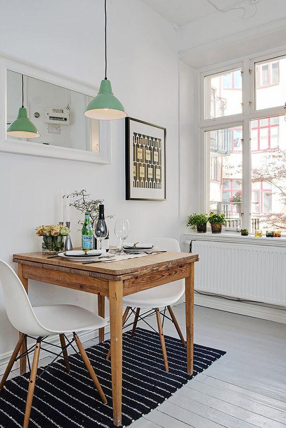modern small dining room