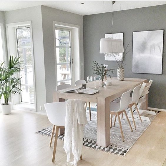 light and airy modern dining room