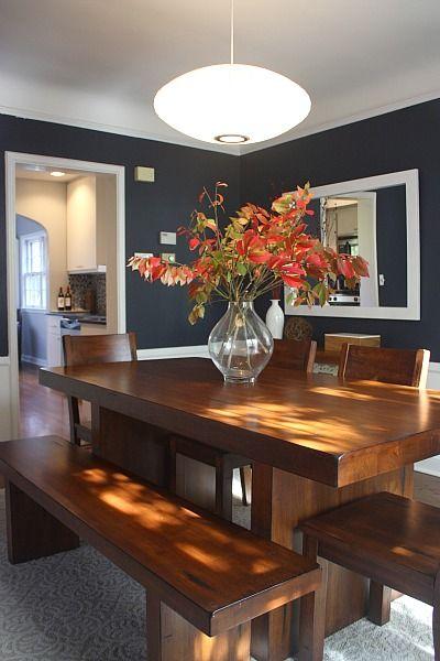 dramatic modern dining room