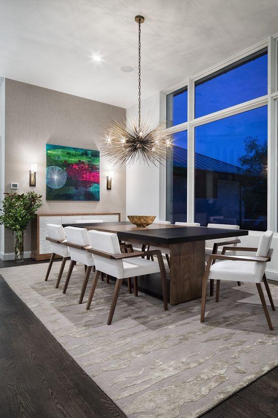 opulent modern dining room