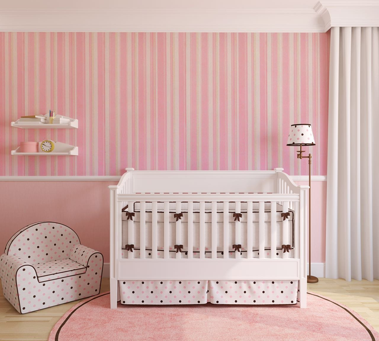 baby pink wallpaper for home