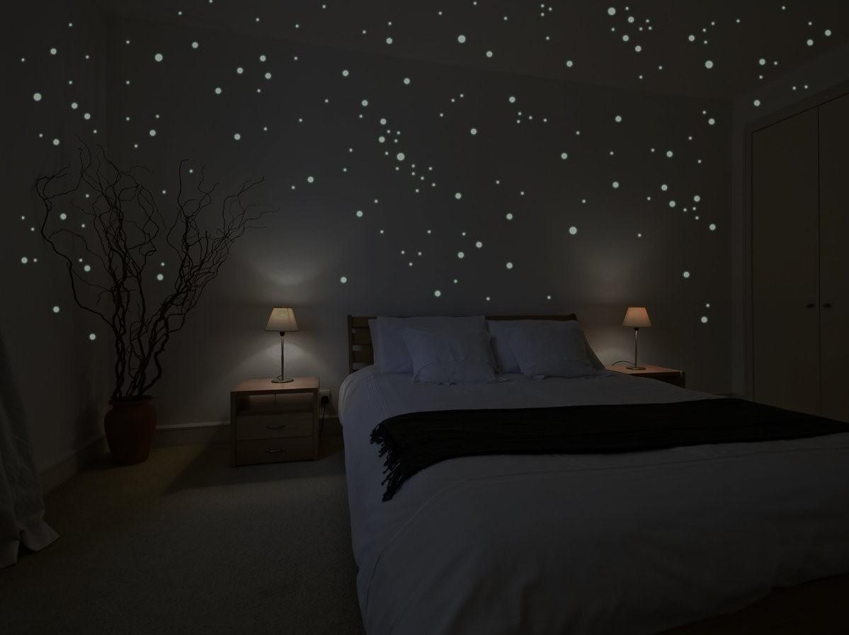 flourescent star wall stickers
