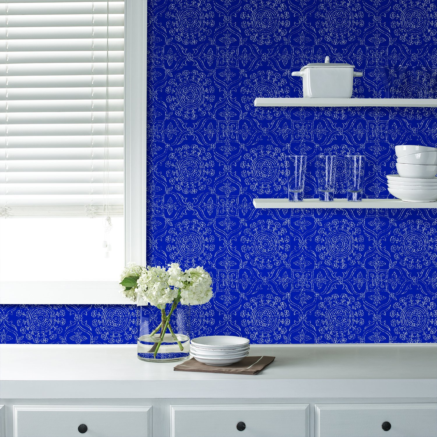 bright blue wallpaper for home