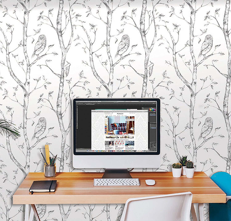 white and grey wallpaper design