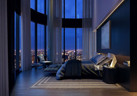 modern two storey bedroom