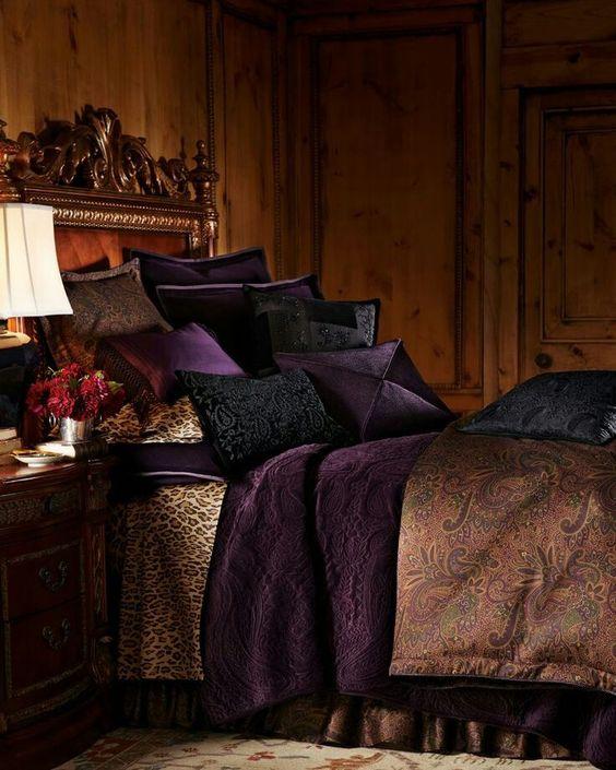 rich bohemian bedroom