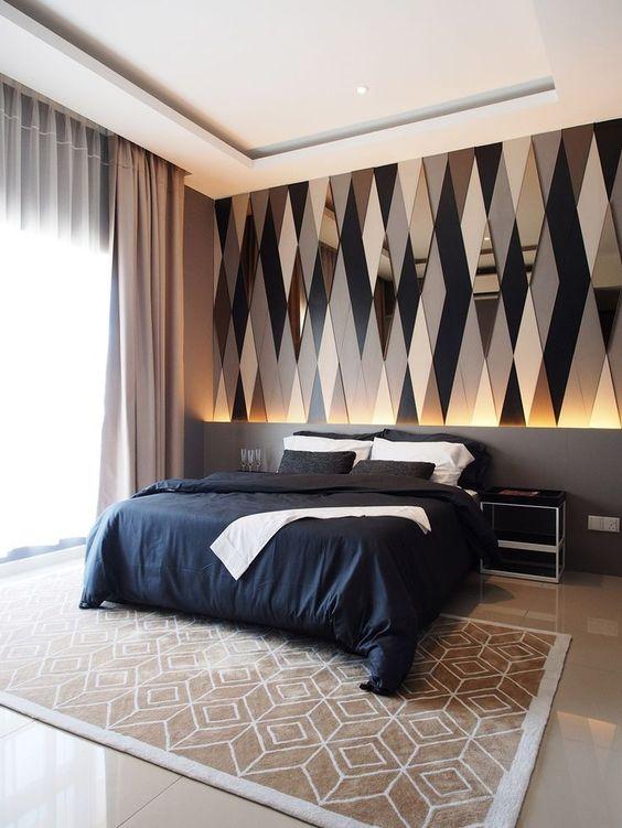 mirrored modern bedroom