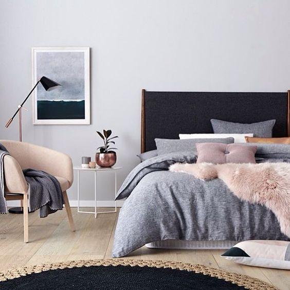 luxurious Scandinavian bedroom