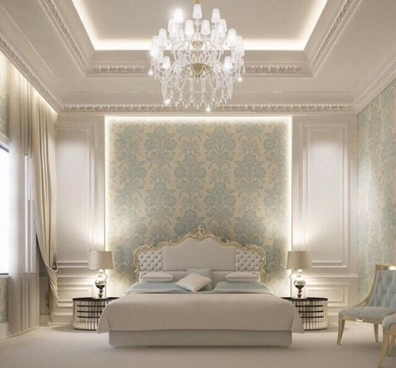 classic ornate luxurious bedroom