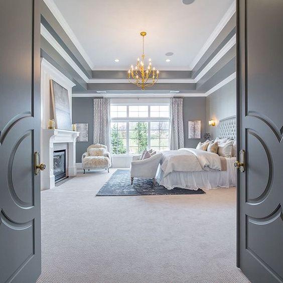 double doored luxurious bedroom