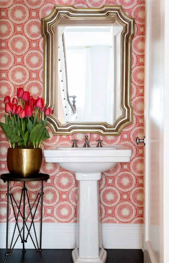 pink powder room