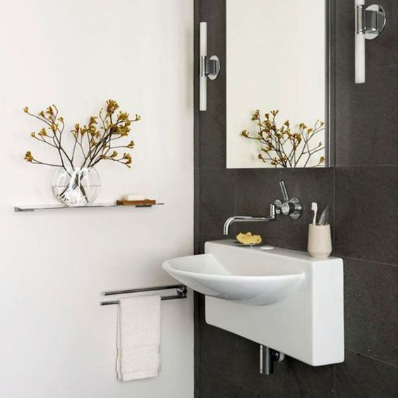 minimalist powder room