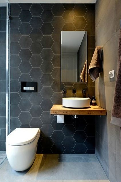modern minimalist powder room