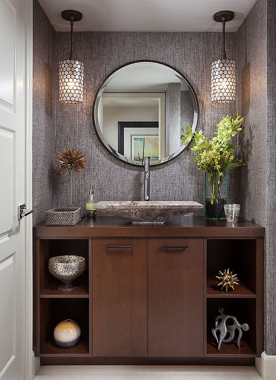 sophisticated powder room