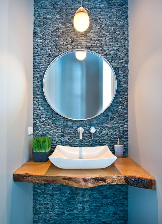 nature inspired powder room