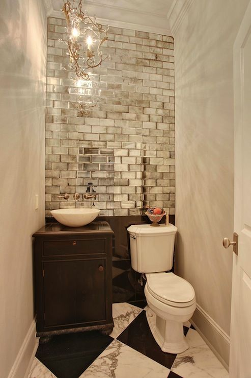 upscale powder room
