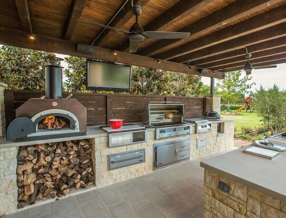 country outdoor kitchen