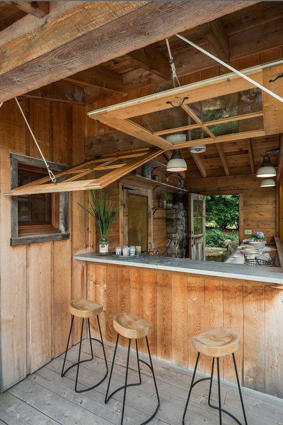 kiosk outdoor kitchen