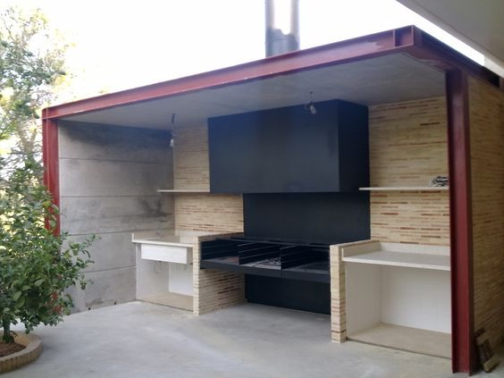 open shed outdoor kitchen