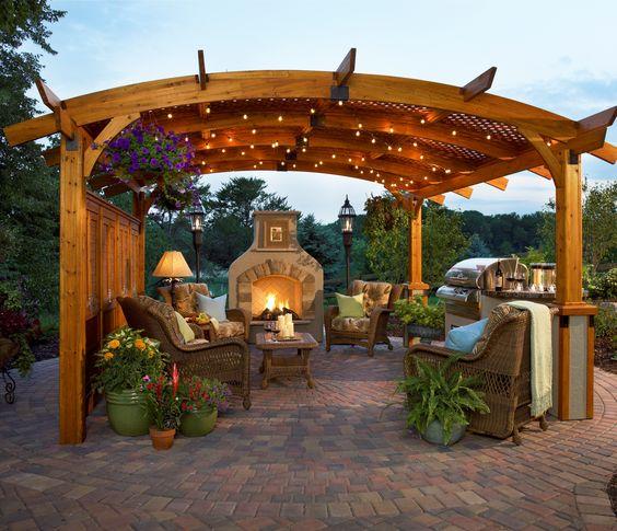 garden outdoor kitchen
