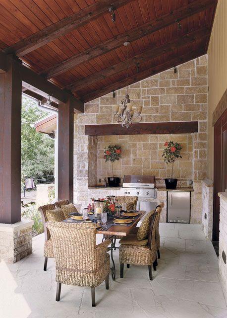 charming outdoor kitchen