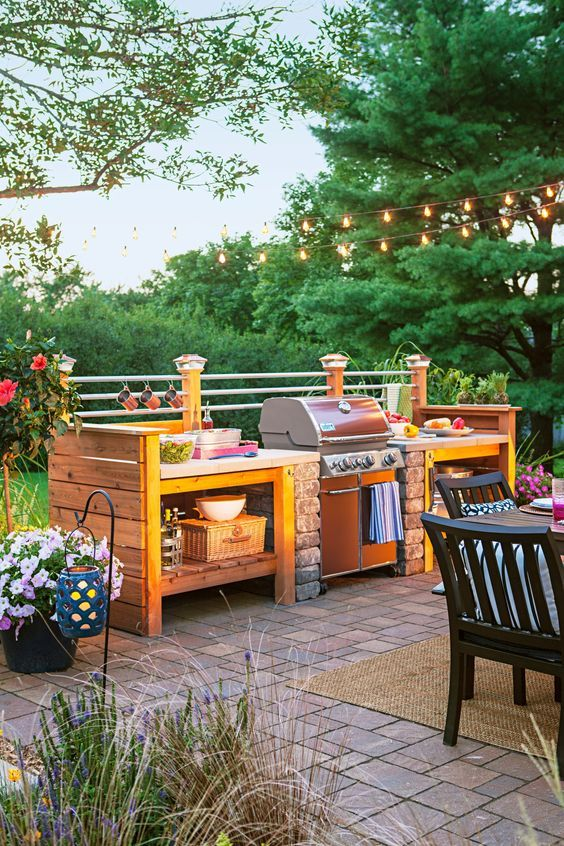 country patio outdoor kitchen