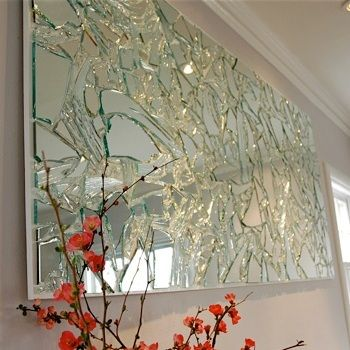 broken mirror wall feature