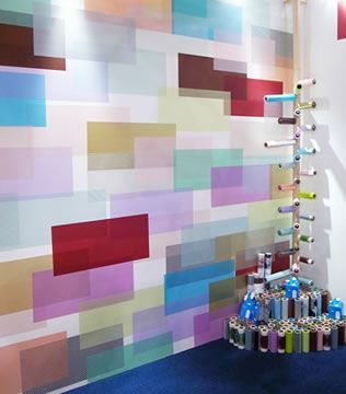 colourful patterned wall