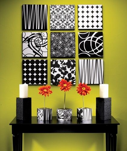 black and white pattern squares